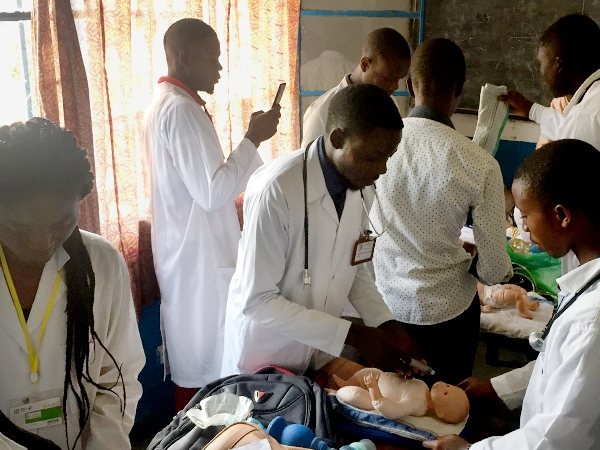 Congolese medical students practice treating patients with skill and God's love.