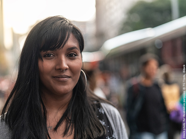 A Brazilian woman brings God into the conversation of politics.